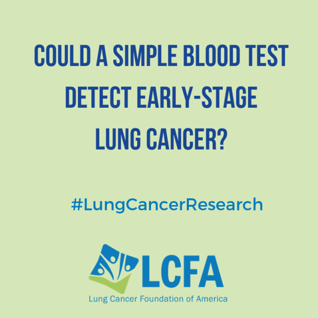 Could a simple blood test detect early-stage lung cancer?