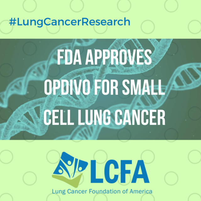 FDA approves Opdivo for Small Cell Lung Cancer