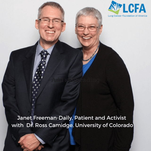 Lung cancer patient and activist, Janet Freeman-Daily with Dr. Russ Camidge, University of Colorado