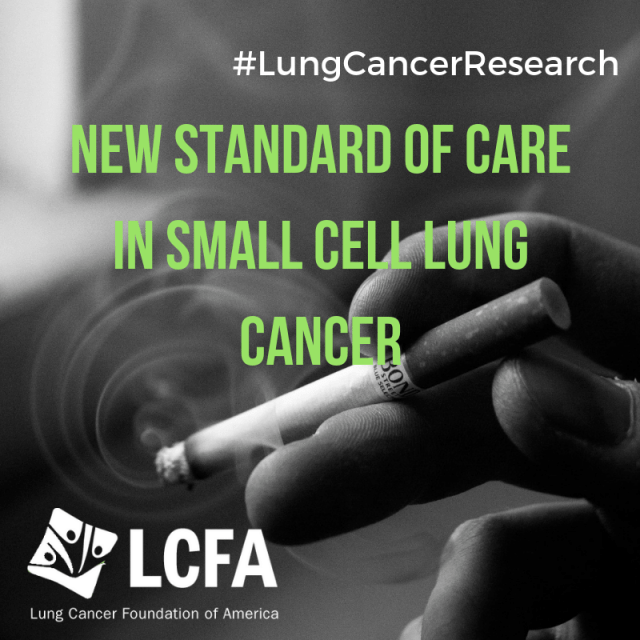 New standard of care in small cell lung cancer