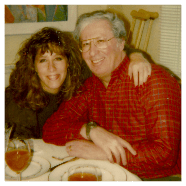 Julie with her dad, Mark