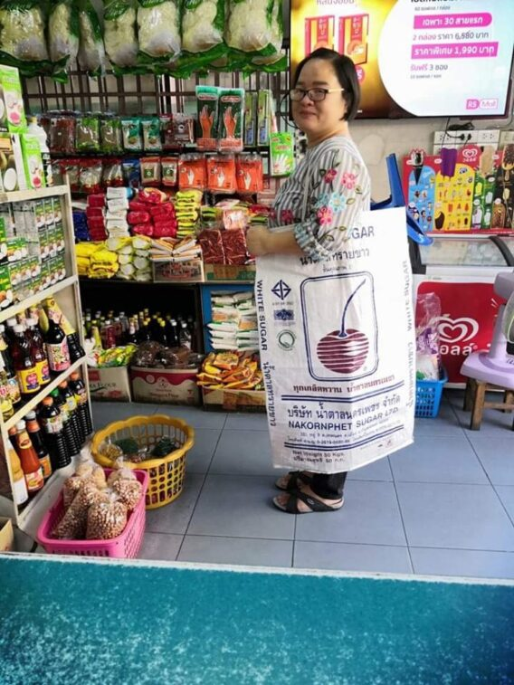 Shoppers in Thailand are getting creative after a new plastic bag ban