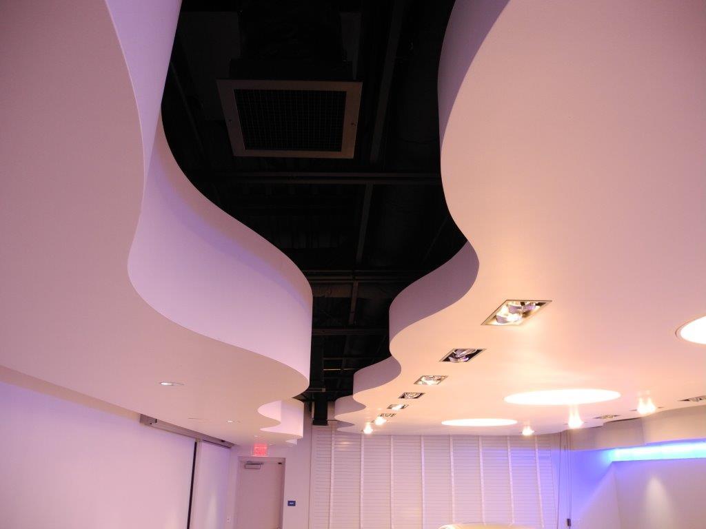 Fisker dealership ceiling finished product