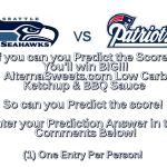 Game Day Score Prediction #Giveaway! #SuperBowl #GameDay