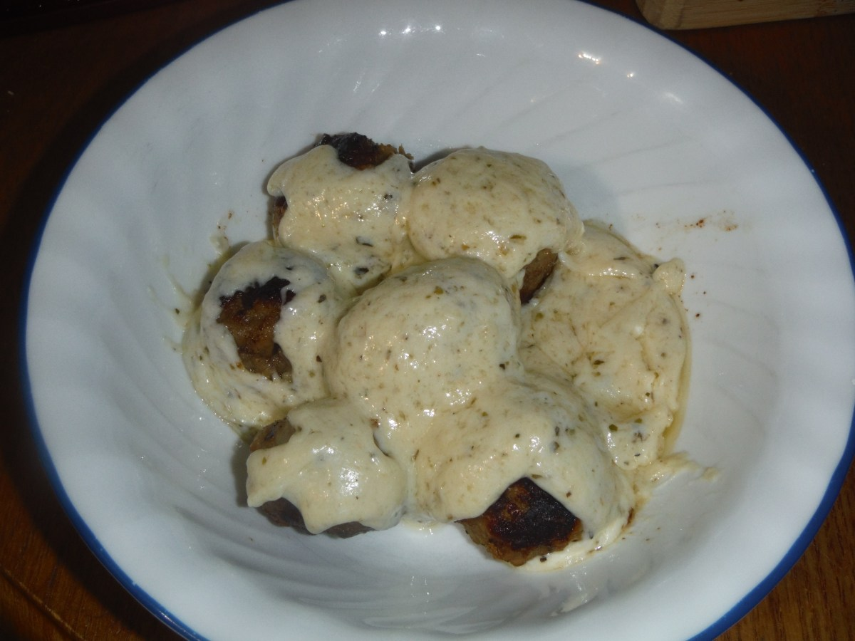 Single Serving Cheese Sauce For Meatballs or Faux Noodles!