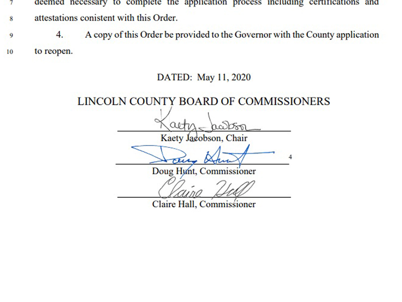 Application reopen Lincoln County