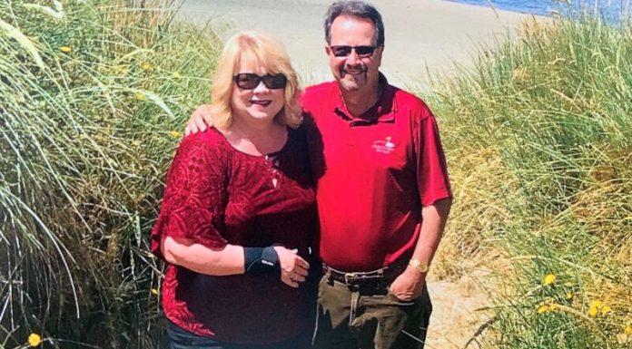 Slain businessman Mark Campbell and his wife, Christine.