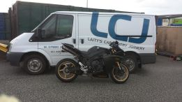 Ford Transit and Yamaha R1 LCJ