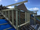 The start of the 3 dormers taking shape