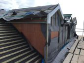 Felt and battened , also ply lined ready for cladding and slate roof