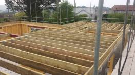 Floor joist and ring beam