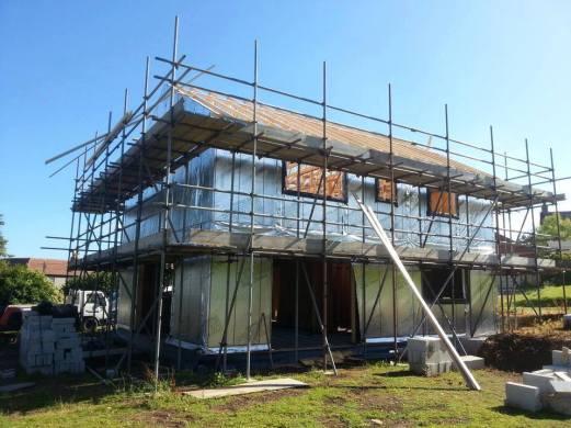 Timber frame erection completed