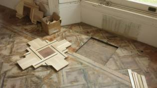 Removal of Rotten flooring