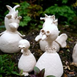 Tuinbeeld van keramiek