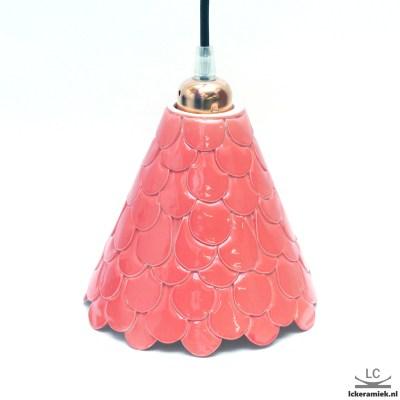 Porseleinen Roze Hanglamp