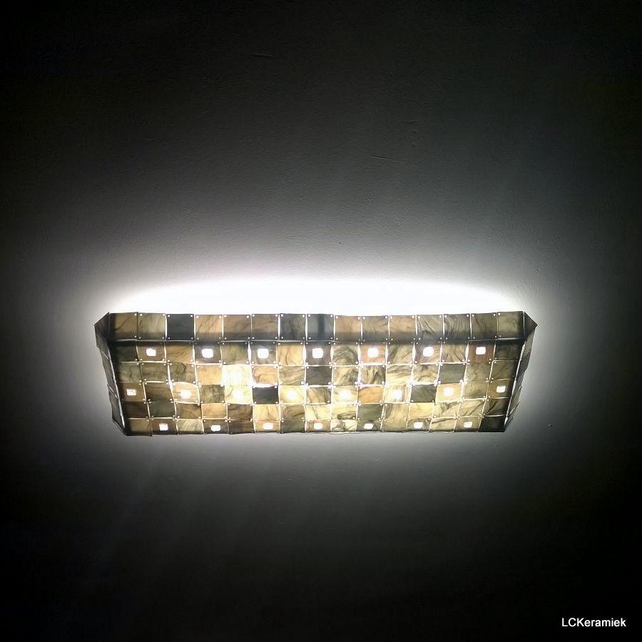 Handgemaakte lamp met porselein door LCKeramiek