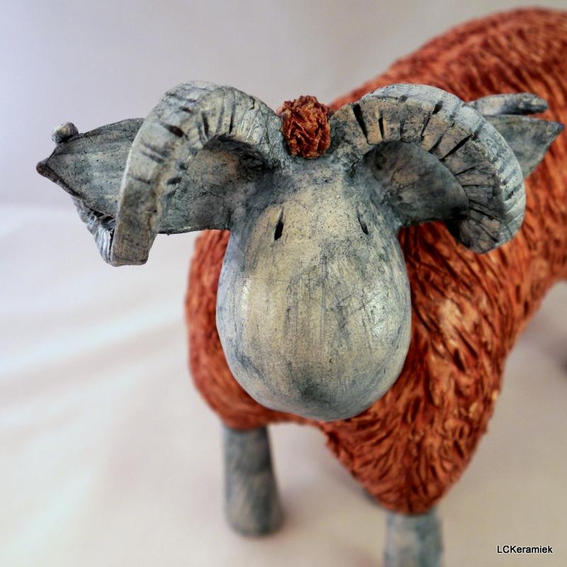 Keramisch beeld schapen door LCKeramiek