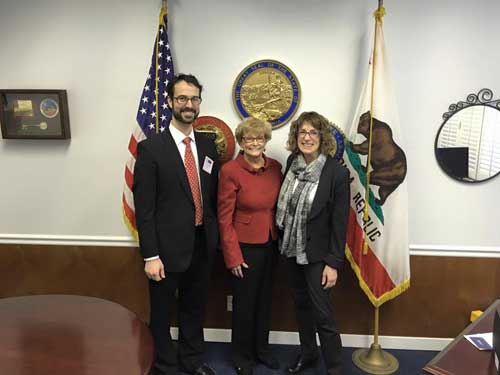 Senator Sharon Runner meets with members of the California Psychological Association from Santa Clarita.