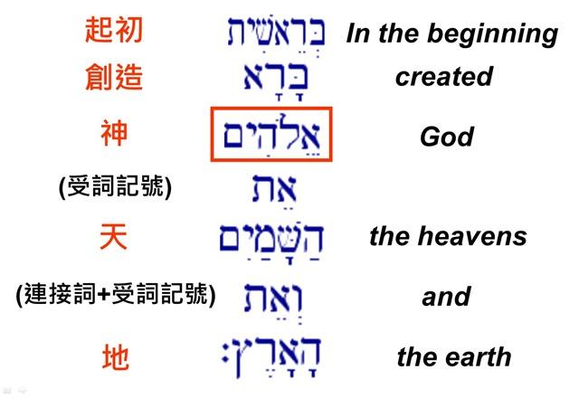 起初神創造天地