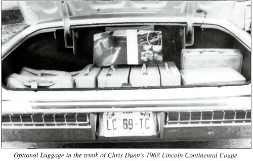 Optional Luggage in the trunk of Chris Dunn's 1968 Lincoln Continental Coupe