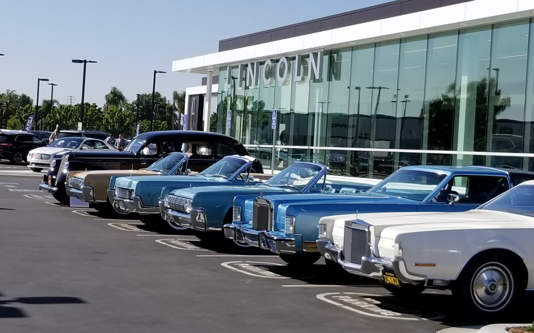 LCOC Heritage Cars Share Spotlight with Roger Penske at Lincoln South Coast Grand Opening