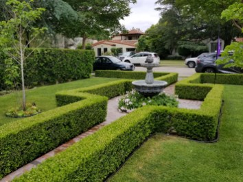 Formal hedge and fountain
