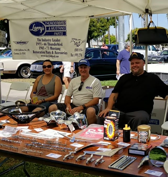 Sponsor Larry''s Thunderbird and Mustang Parts at large booth