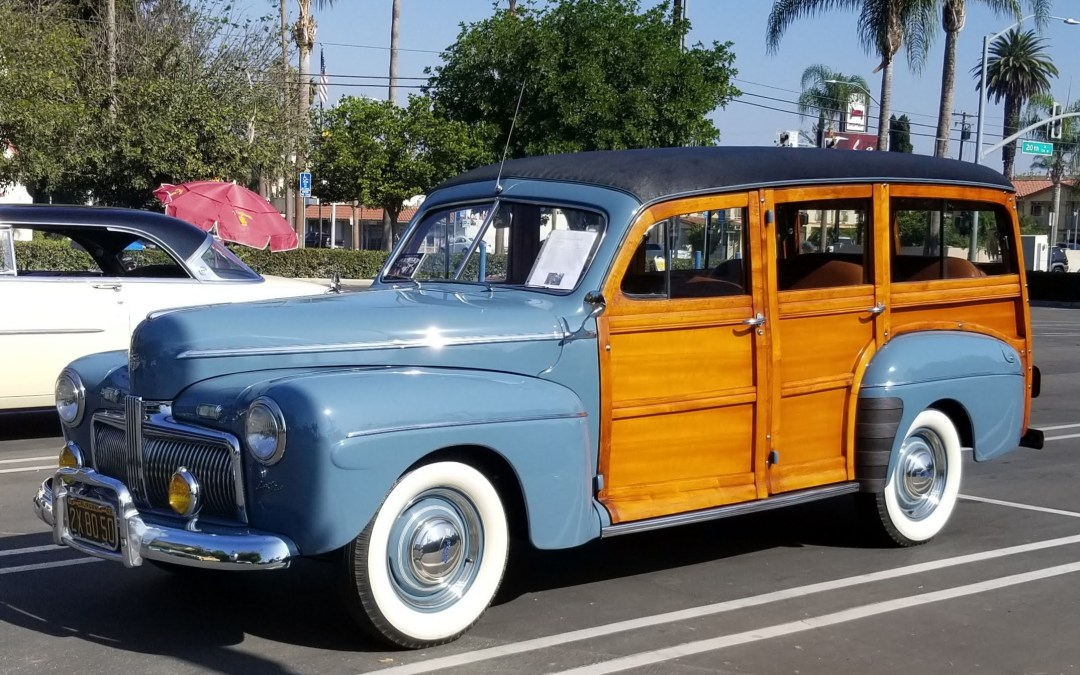Rare 1942 Ford Woodie Took Center Stage at Bowers Museum Car Show