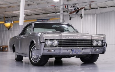 1967 Stainless Steel Continental Convertible Goes to Auction