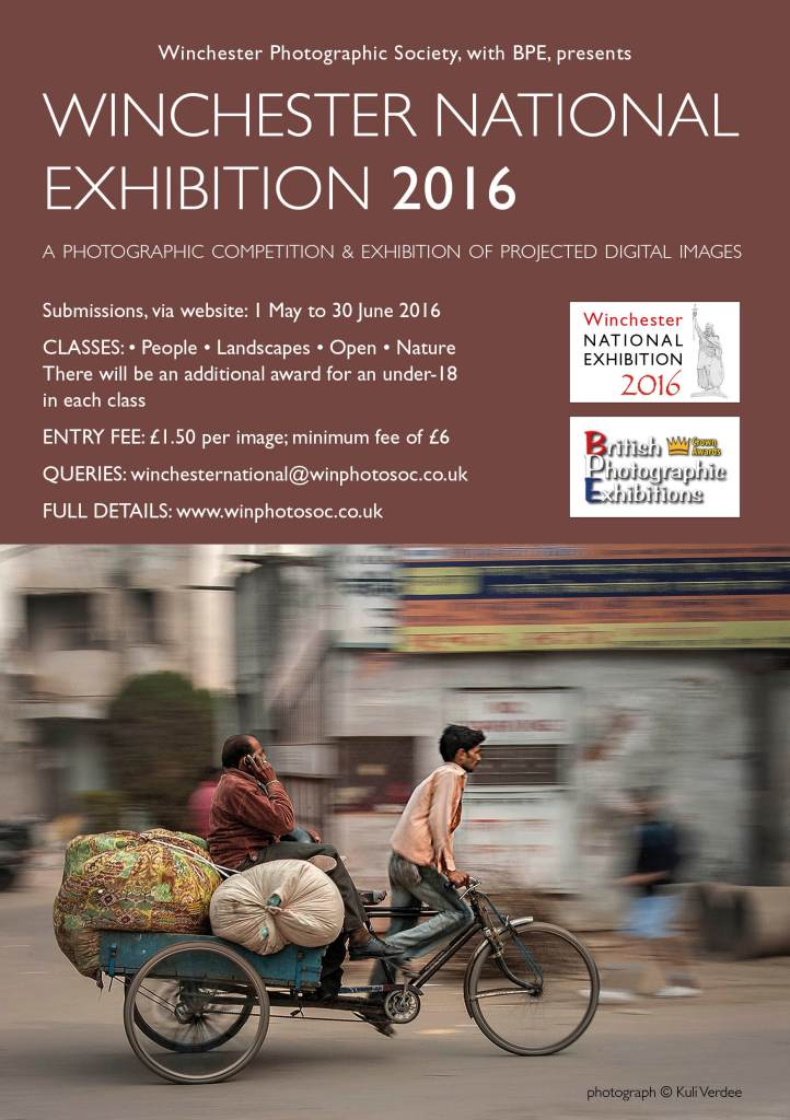 Winchester National Exhibition 2016 flyer