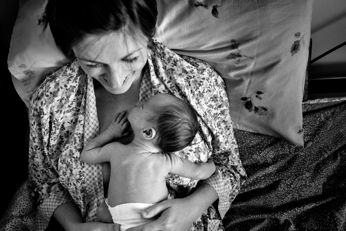 Postpartum image by a birth photograoher in south wales