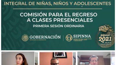 SEP, Sipinna y organizaciones civiles Comisión para el Regreso a Clases Presenciales
