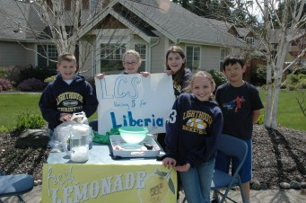 Lemonade Stand for Liberia