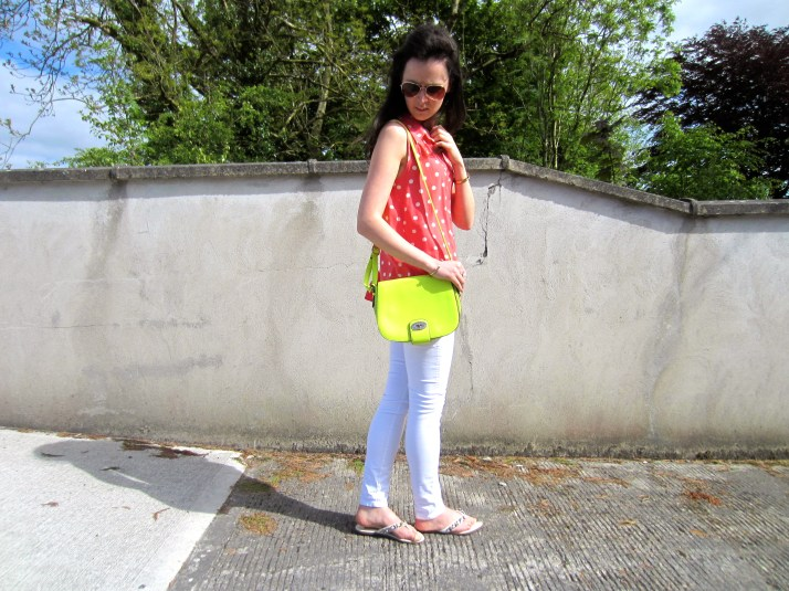 Irish Fashion Orange Polka Dot 8