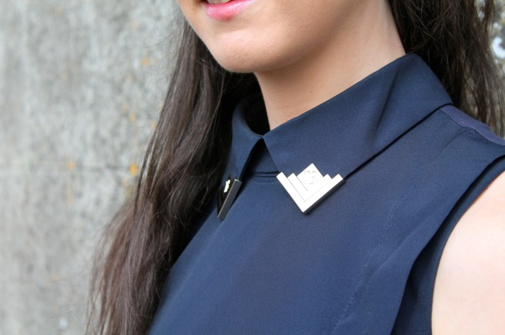 Irish Fashion Gold Tip Collar 15