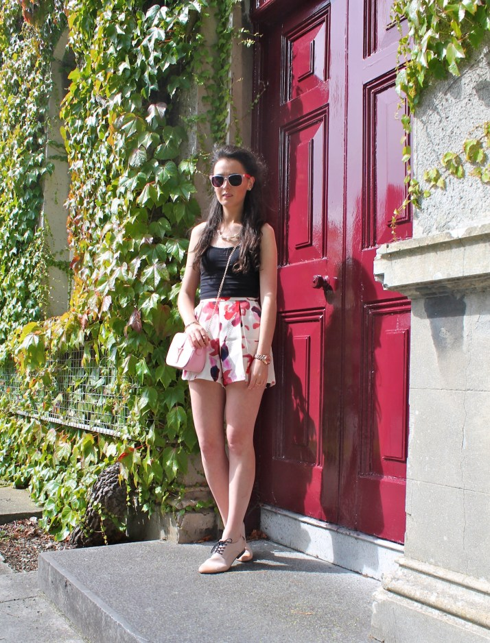Irish Fashion Flower Print Shorts 8