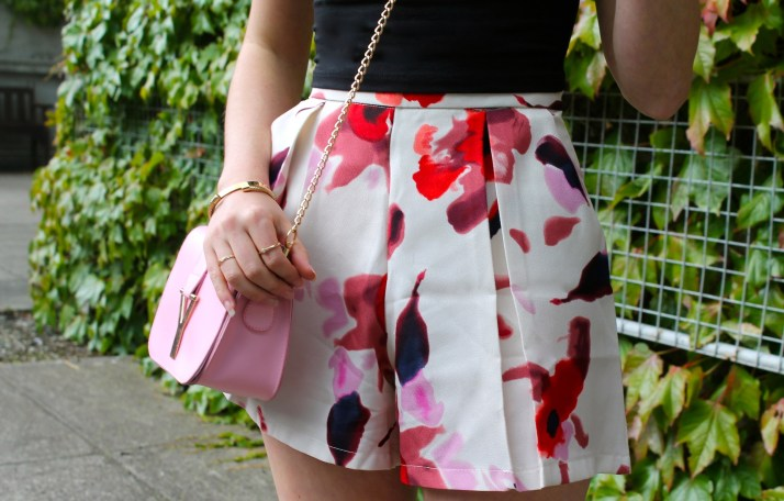 Irish Fashion Flower Print Shorts 2