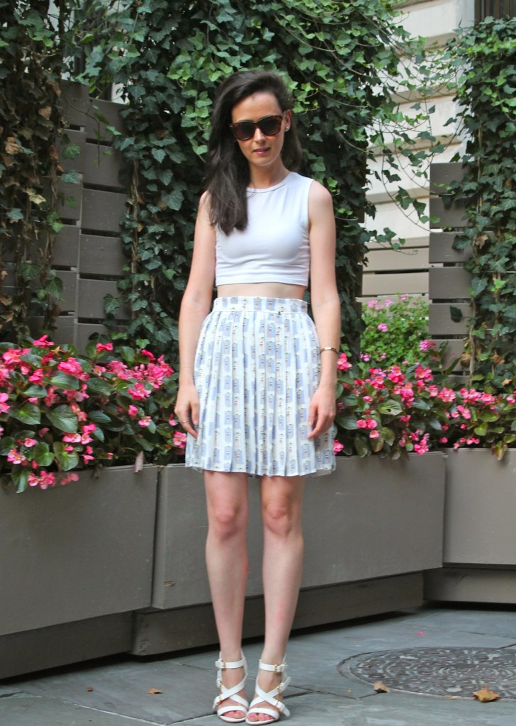 irish fashion: pleated skirt 2