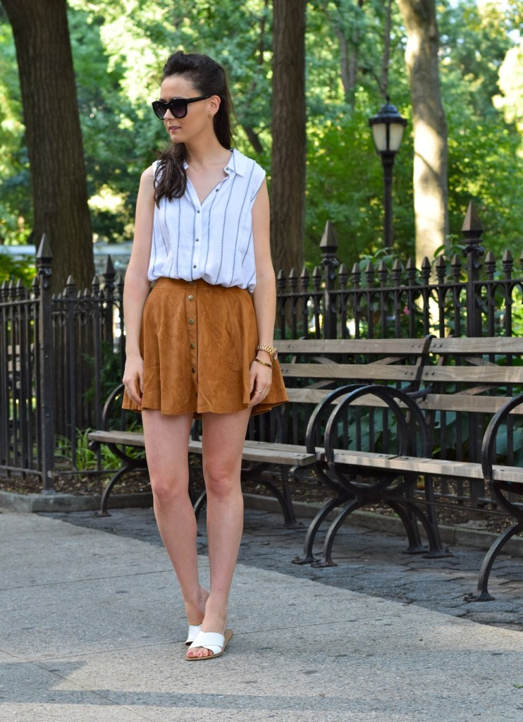 irish fashion: Suede Button-Up Skirt 11