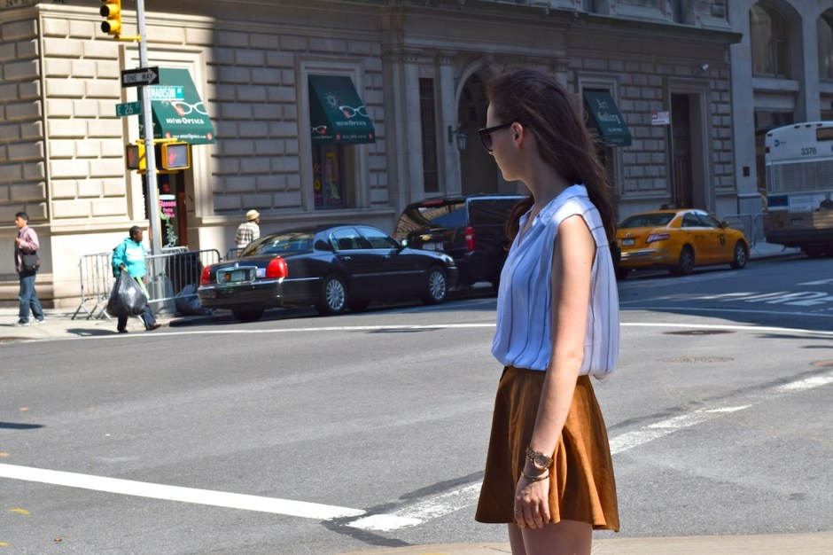 irish fashion: Suede Button-Up Skirt