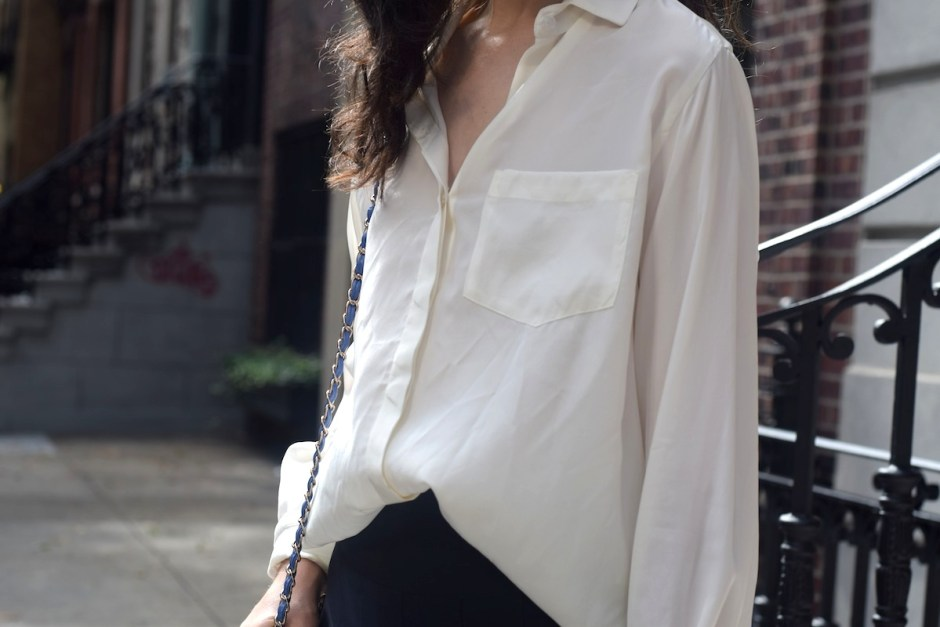 white shirt and pleated skirt 3