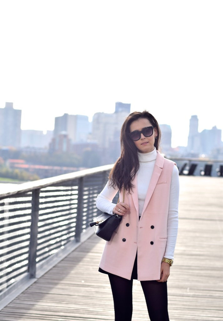 Pink Sleeveless Blazer 27