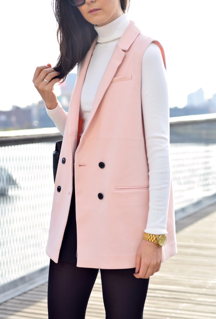 Pink Sleeveless Blazer 16