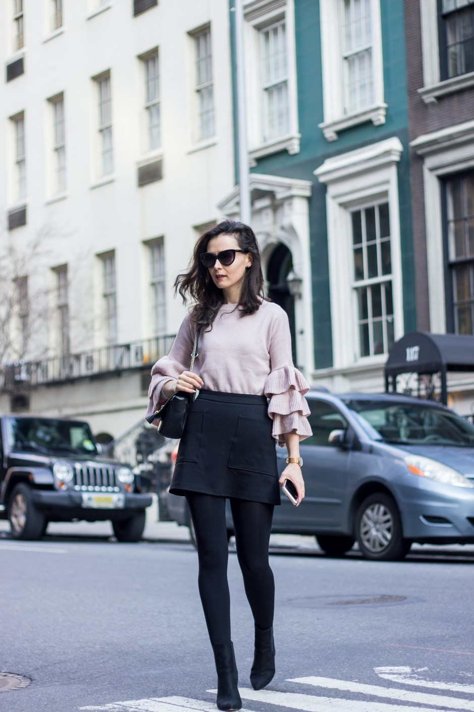 NYC Blogger: Bell Sleeve Sweater 4