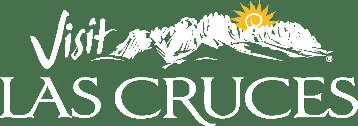 Visit Las Cruces white logo