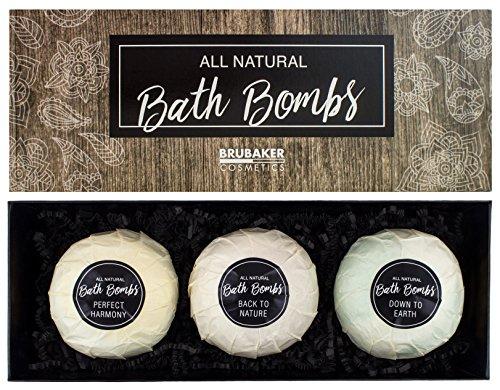BRUBAKER Cosmetics Bombe da bagno 'All natural' - Set da 3 pezzi - vegane, fatte a mano, senza glutine e parabeni