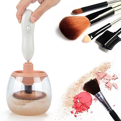 Funria Pulitore di pennelli per cosmetici, macchina pulitrice automatica per pennelli per cosmetici, strumento di pulizia e asciugatura, pulisce e asciuga tutti i pennelli per trucchi in pochi secondi
