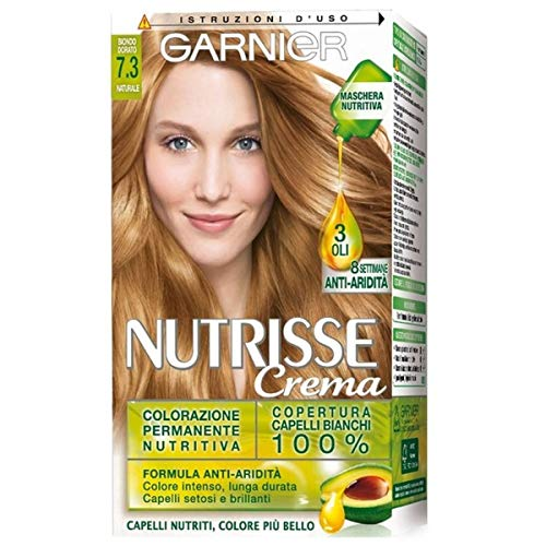 Garnier Nutrisse Colorazione Permanente Nutritiva, 7.3 Biondo Dorato