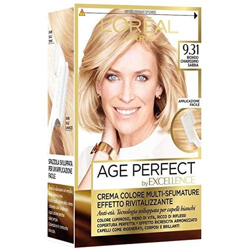 L'Oréal Paris Excellence Age Perfect Crema Colore Effetto Rivitalizzante, 9.31 Biondo Chiarissimo Sabbia