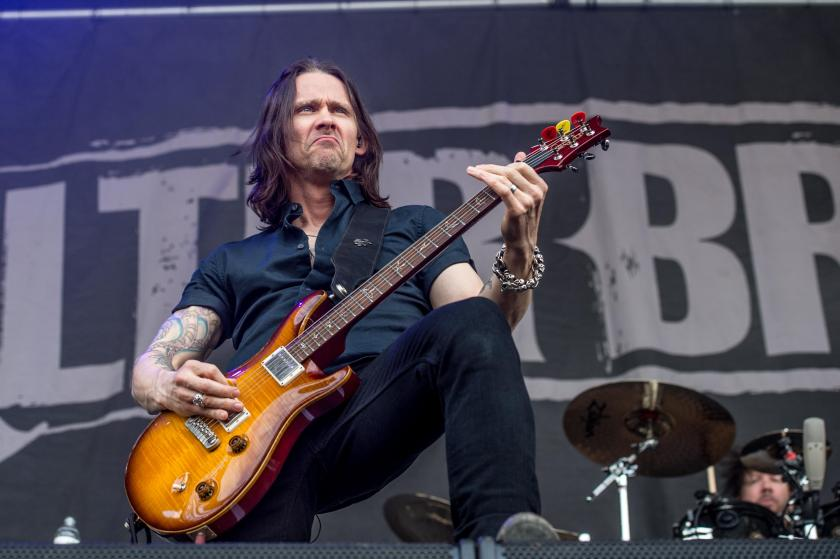 Myles Kennedy of Alter Bridge performs at the Louder Than Life Festival on Sunday, Oct. 2, 2016, in Louisville, Ky. (Photo by Amy Harris/Invision/AP)